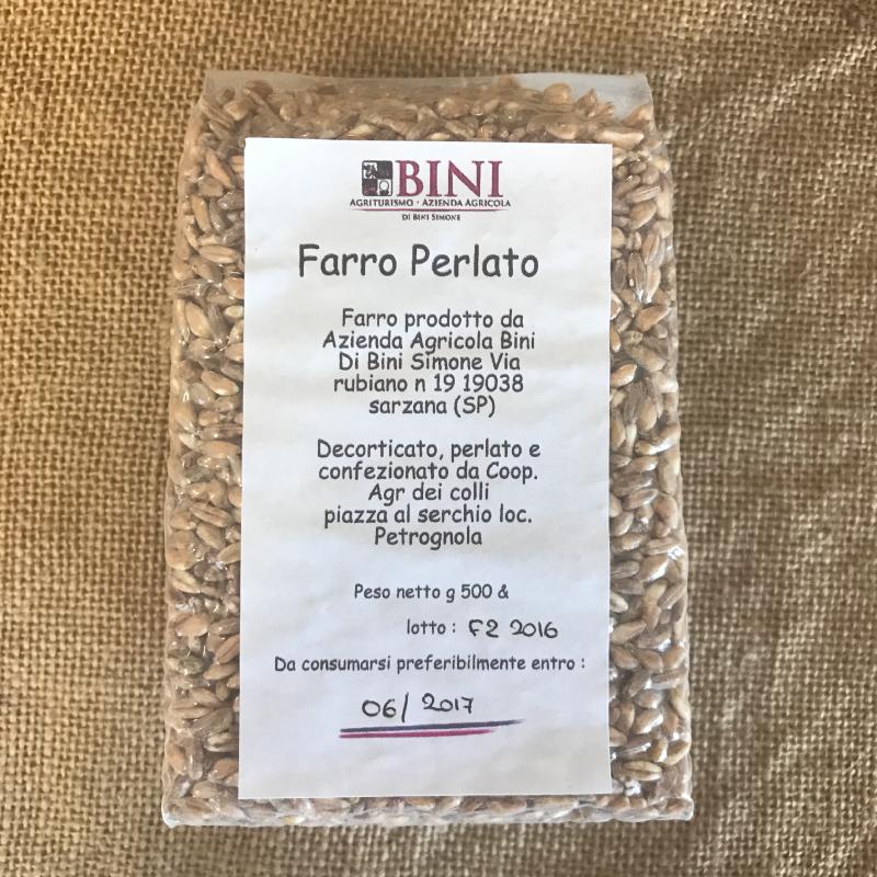 CER001 - Farro perlato - PRODOTTI AGRITURISMO BINI